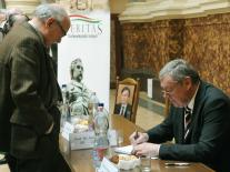 The traditional book-signing